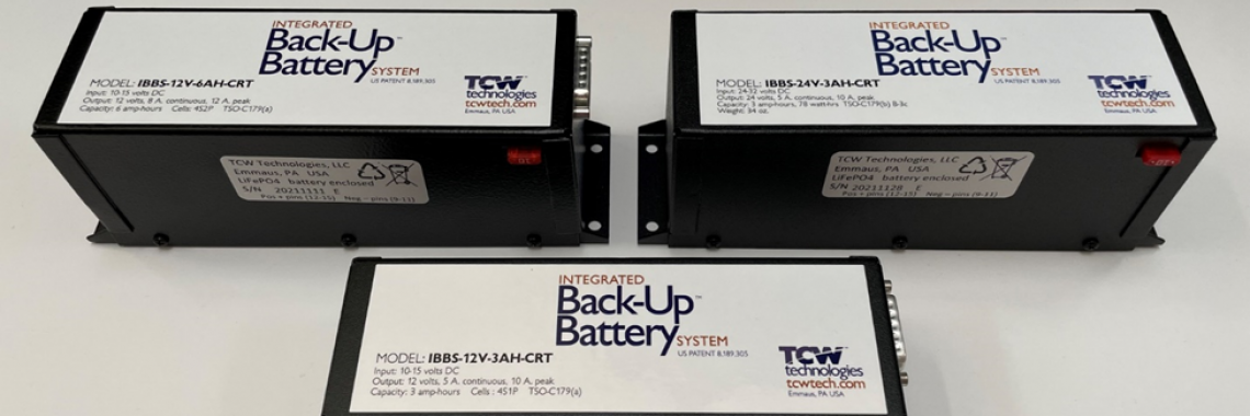 TCW Technologies Announces Approval of an STC-AML for its  Integrated Battery Back-up System (IBBS)